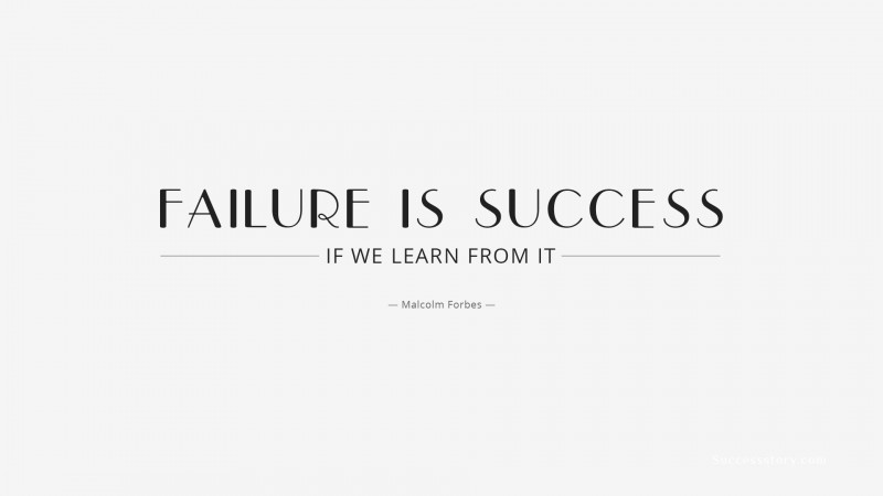 lessons to learn from failure