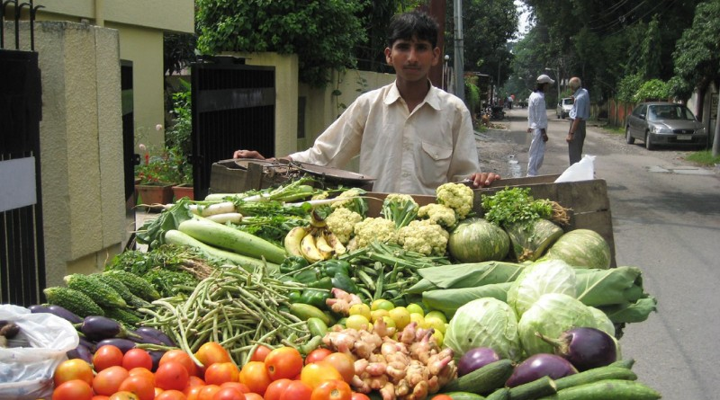 vegetable vendor helping hand