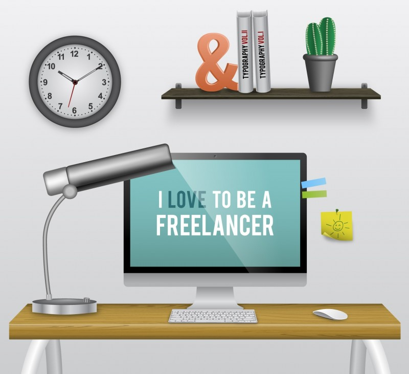 working freelance
