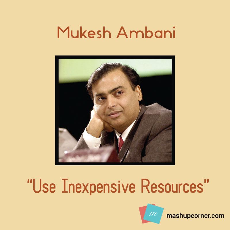Startup advices mukesh ambani