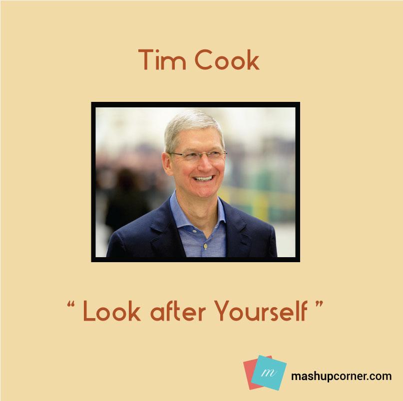 Startup advice tim cook