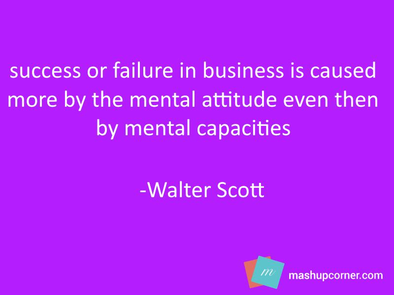 Walter-scott-Success attitude