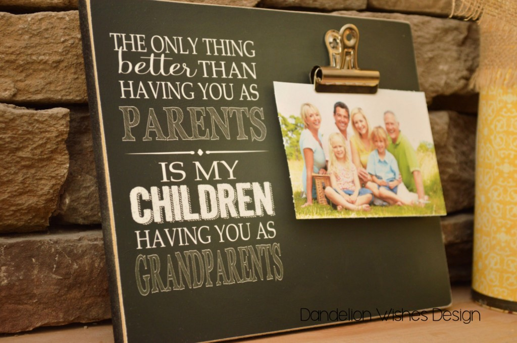 gift huge photo frame to parents