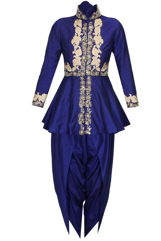 Kurti with dhoti pants.