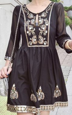 Turn your kurti into a dress.
