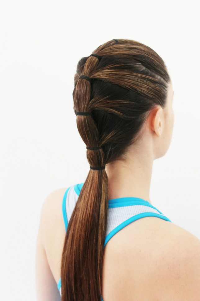 Attractive hairstyles for gym with Tiered Pony