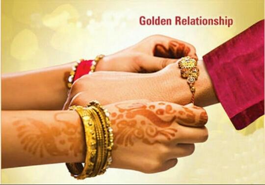 jewellery as rakhi gift.